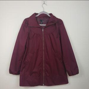 H&M Maroon A-Line Coat